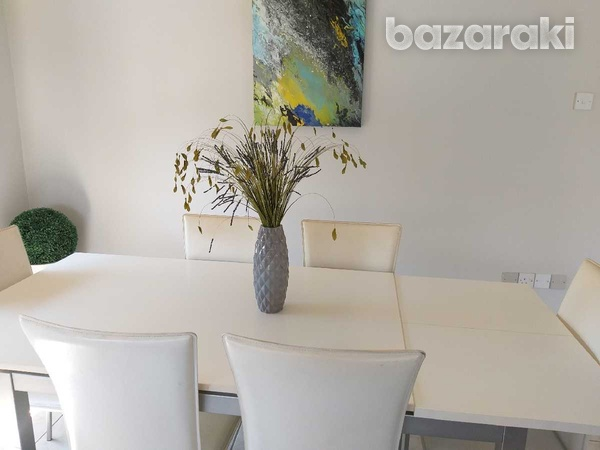 Dinning table extentable with 6 chairs-2