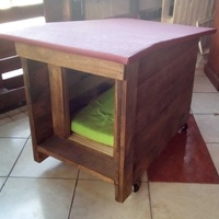 New pallet dog house for small and medium dogs