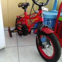 Child bicycle with side wheels beautiful colours excellent condition like br new
