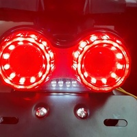 Motorbike tail lights and flash lights