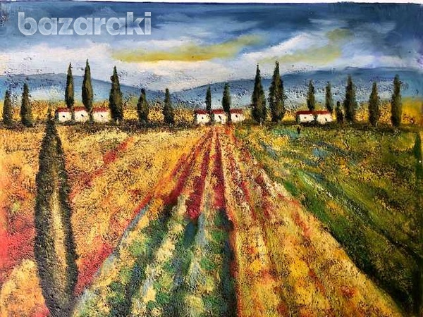 Tuscany, oil on canvas-1