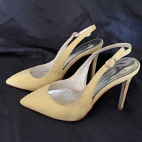 Yellow pastel high heels 37 size