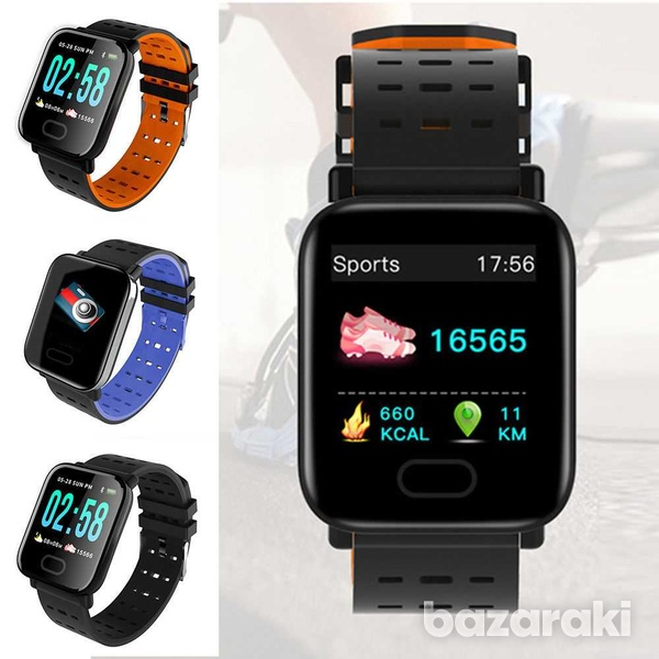 Bluetooth smart watch blood pressure heart rate monitor fitness univer-2