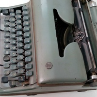 Antique 1950s-60s torpedo typewritter made in west germany