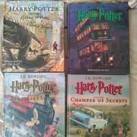 Harry potter illustrated hardcover books 1-4