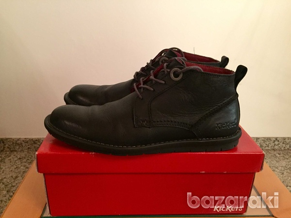 Kickers black leather shoes-1
