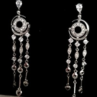 Hand made vintage siver earrings