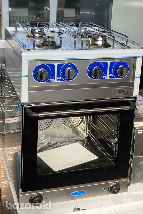 Gas cooker on electric oven 60x60x90cm