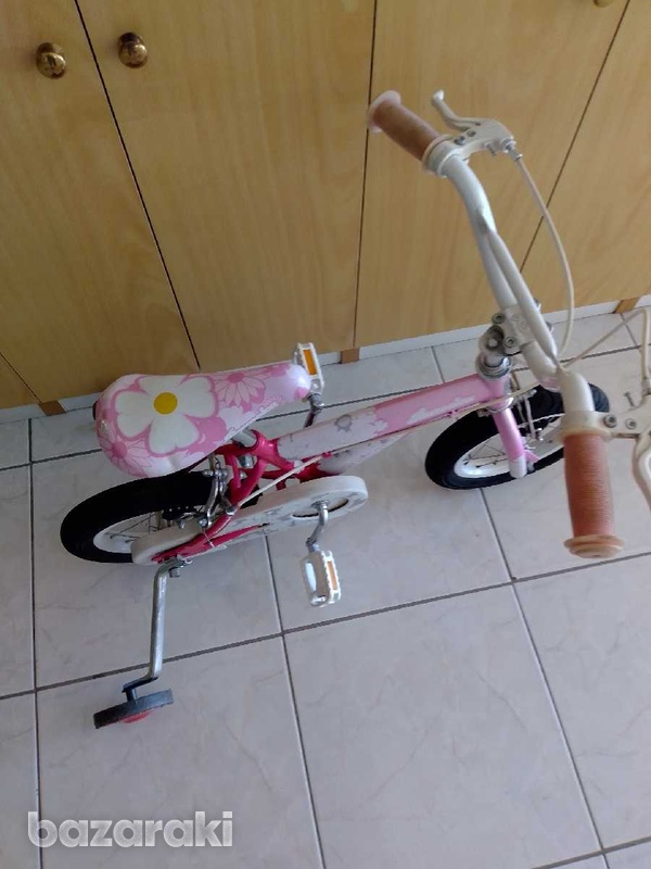 Bicycle for child with side wheels excellent condition like brand new.-3