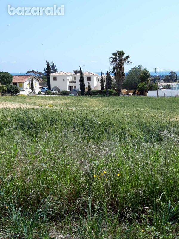 Residential land in mazotos village suitable for development with sea view-3