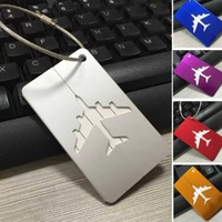 Travel aluminium plane luggage tags