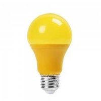Mosquito lamps 9w a60 led yellow color plastic bulb e27 new in box