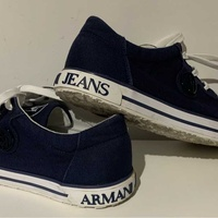 Armani jeans canvas sneakers, navy blue, suze 41