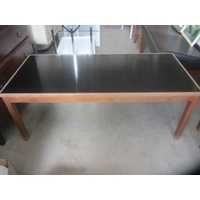 Black top coffee table