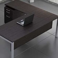 Office desk with an extension and a cabinet