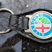 Vintage alfa romeo leather keyfob