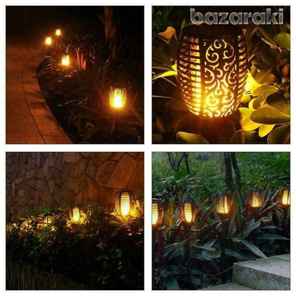 Led waterproof outdoor solar dancing flame light garden flickering lam-4