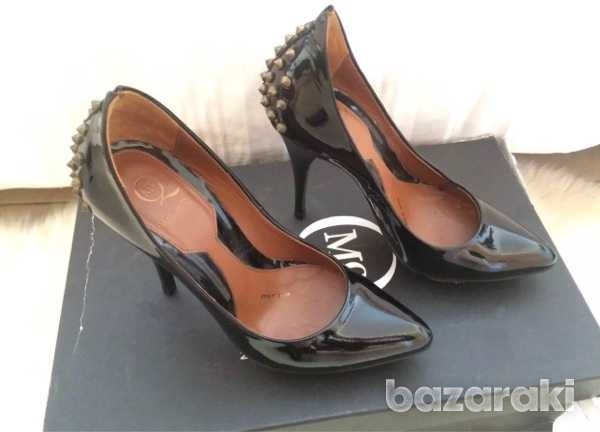 Mcq alexander mcqueen studded patent leather pumps black size 35-35.5-6