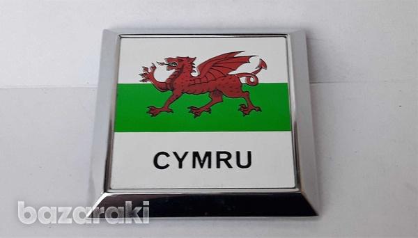 Vintage collectible classic cars badge cymru wales new never used-2