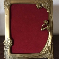 Antique brass photo frame size 26cm height x 18.5 cm width