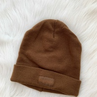 Tally weijl light brown beanie with patch on the front