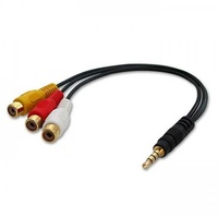 Lindy av cable 3.5mm 4 segment to 3xrca