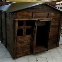 Wooden dog house or childrens playhouse