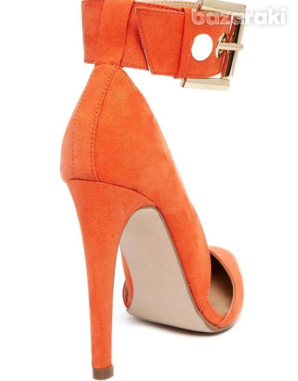Asos coral pointed high heel shoes uk2-1
