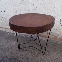 Black eucalyptus coffee table