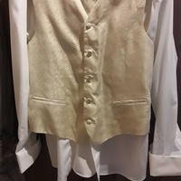 Special occasion suit, shirt, waistcoat and cravat