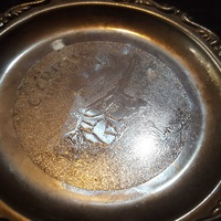 Small silver cyprus tray