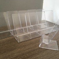 10 pieces of acrylic stand mount for mobile phone display holder showroom