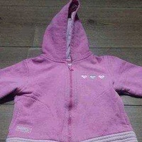Baby girl's pink hoodie 6-9 months