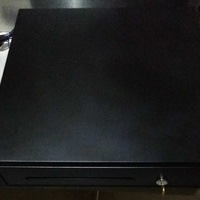 Cash box with cable for the printer