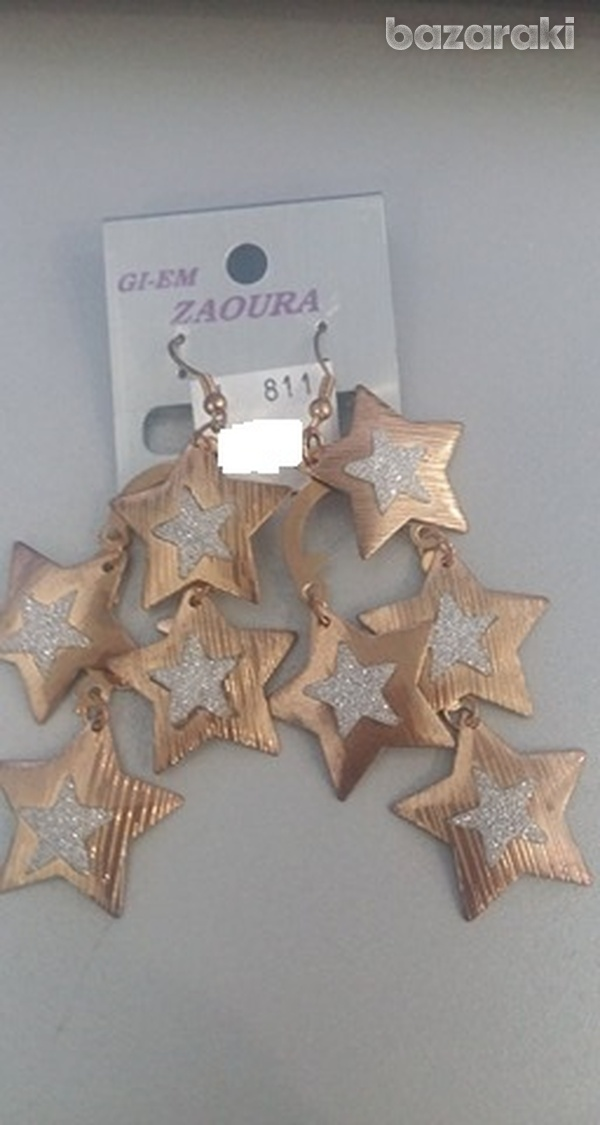 Star dangleearrings