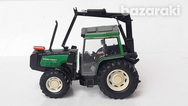 Vintage collectible rare britains 1997 macau diecast model tractor val-3