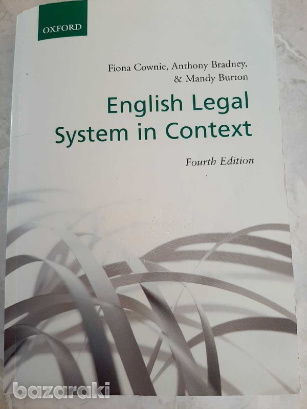 Oxford english legal system in context book-1