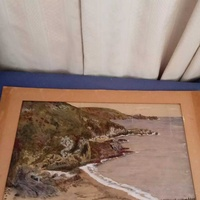 Watercolor of ireland sign by a.t. dates 1938. dimensions 45cmx32cm.