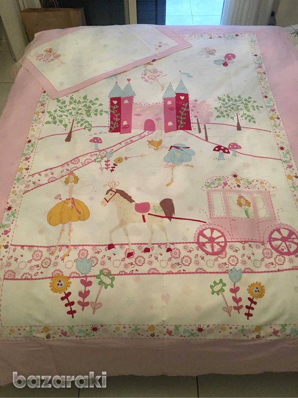 Duvet cover and pillowcase, single bed size-1