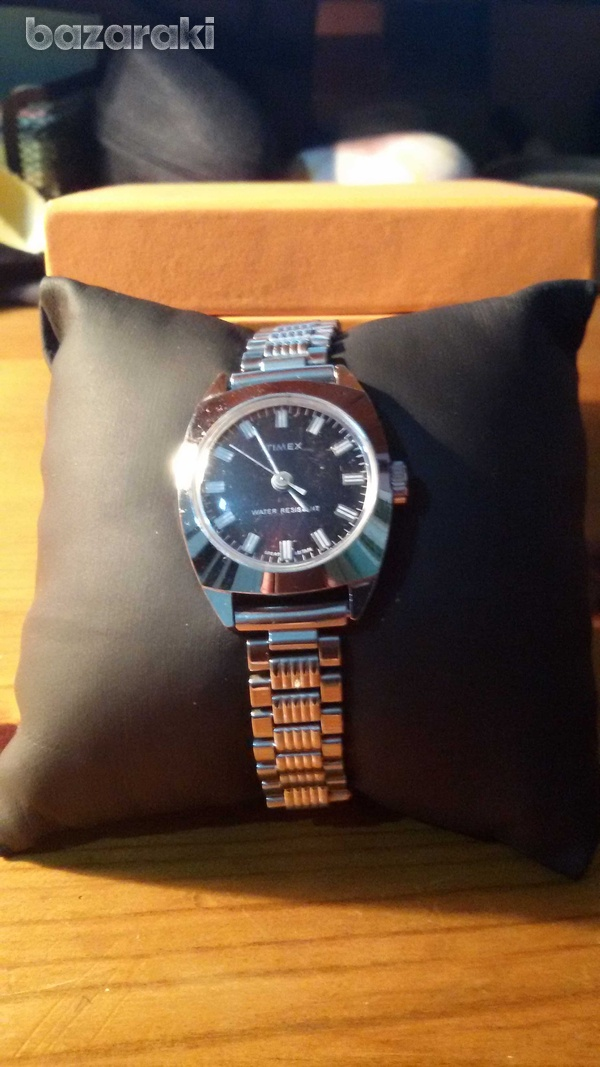 Timex ladies stainless steel mechanical wind up watch-1