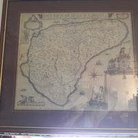 Old barbadoe's map framed