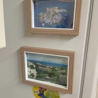 Set of ikea magnetic photo frames