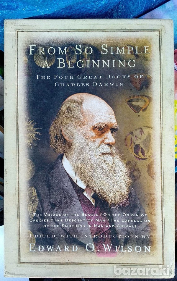 Charles darwin - from so simple a beggining - 4 books in 1. never used-1