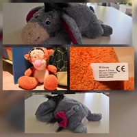 2 cuddly toys eeyore and tiger disney character. 20 cms -15cms approx