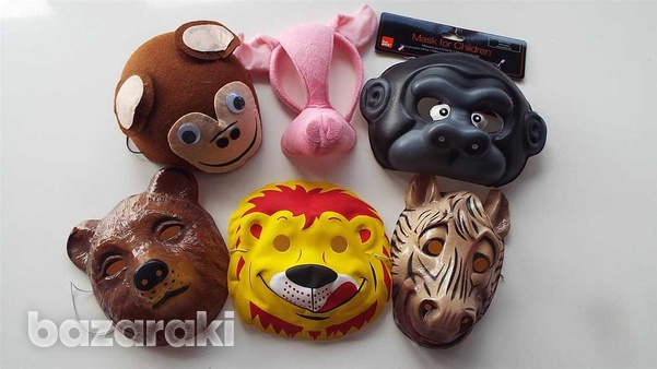 Carnival animal masks - set of six different animals.-1