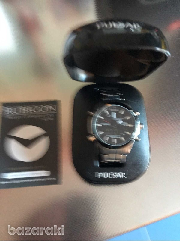 Pulsar digital +analogue watch new-1