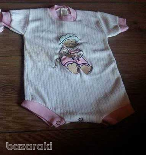 Baby girl sleepsuit vests 0-3 months - three available-1