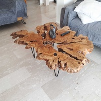 Unique olive wood root coffee table