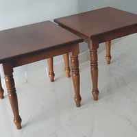 Two wooden side tables