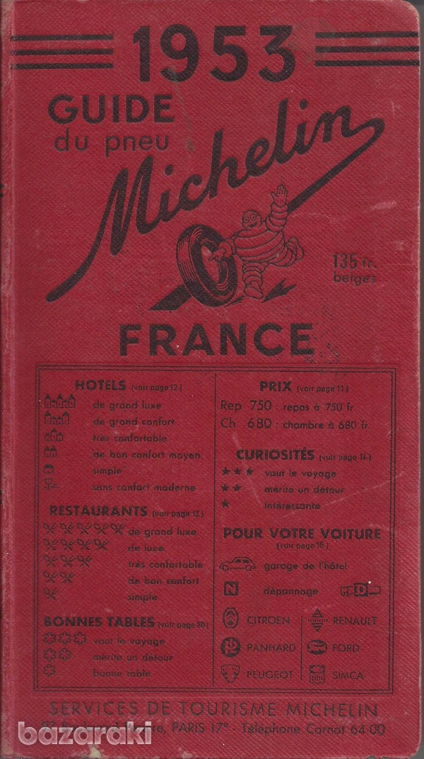 Old unique 1953 michelin tourist guide-1
